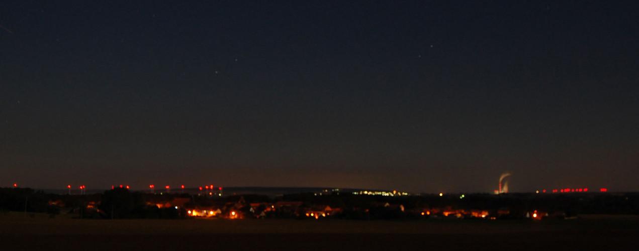 Aderstedt am Huy bei Nacht