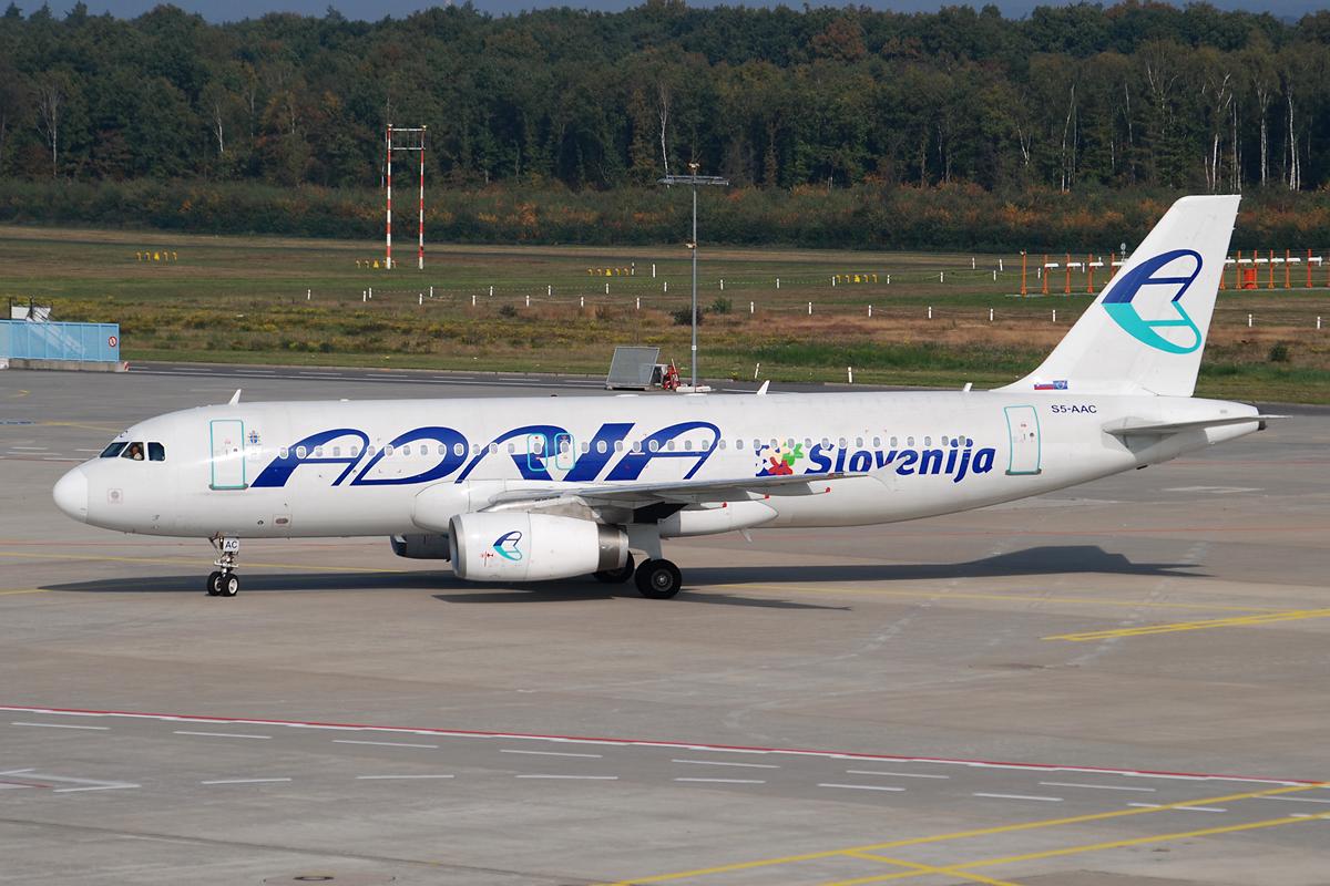 Adria Airways A320 in Köln