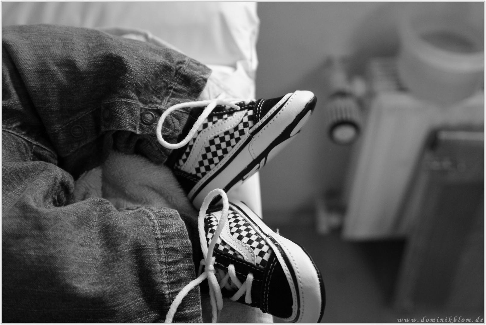 Adrians ersten Schuhe