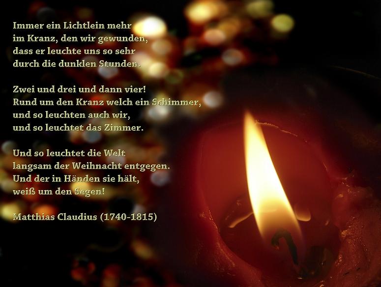 Gedanken Zum Advent Und Weihnachten