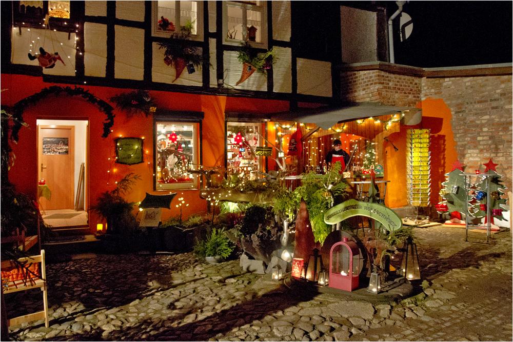 advent in den h fen in quedlinburg foto bild. Black Bedroom Furniture Sets. Home Design Ideas