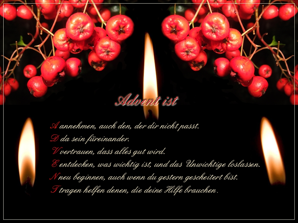 Advent, Advent! Adventsgruss-6f3a1eb8-4bb0-4315-a306-9f569c4d7814