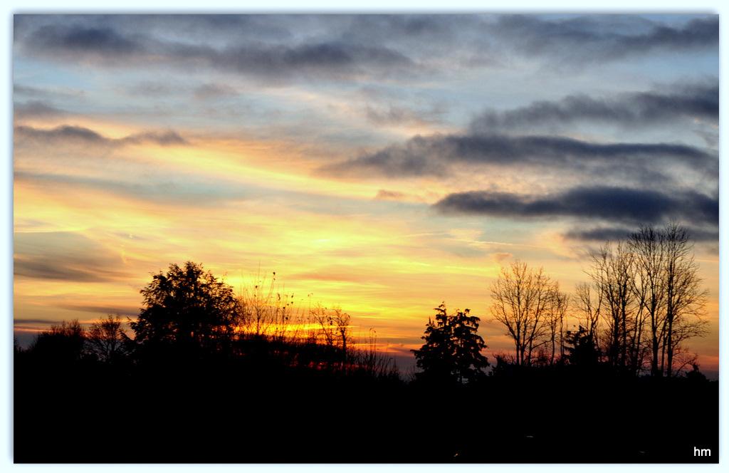 Adventssamstag Abend vom Balkon
