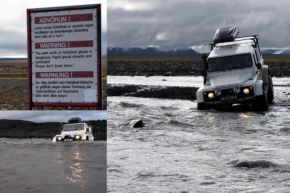 Advörum / Warnung / Island zentrales Hochland