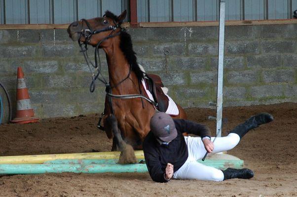 Aïe, Aïe, Aîe ! J'ai mal pour le cheval et bien sûr le cavalier.