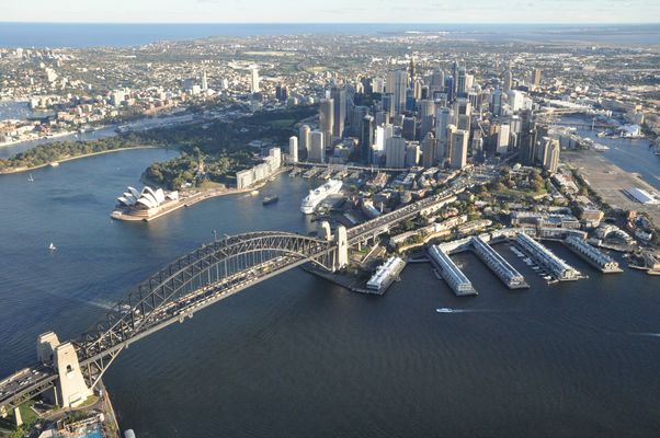 Aearial View of Sydney CBD
