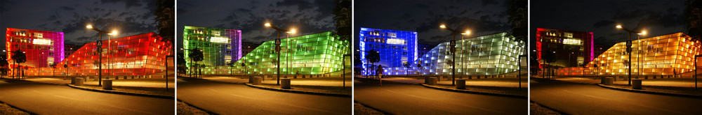 AEC Ars Electronica by night