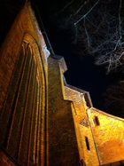 Aegidienkirche in Lübeck bei Nacht