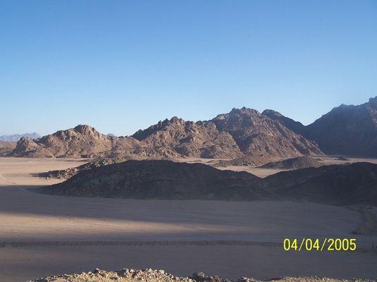Ägyptische Wüste am Abend