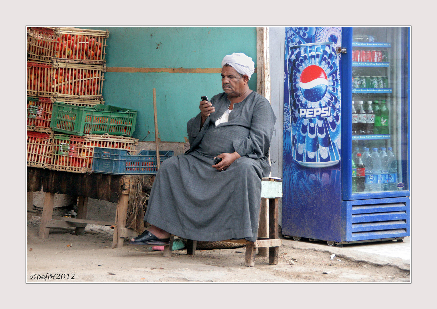 Ägyptischer Händler in El Quesir
