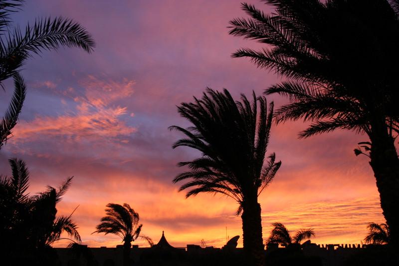 Ägyptischer Sonnenuntergang