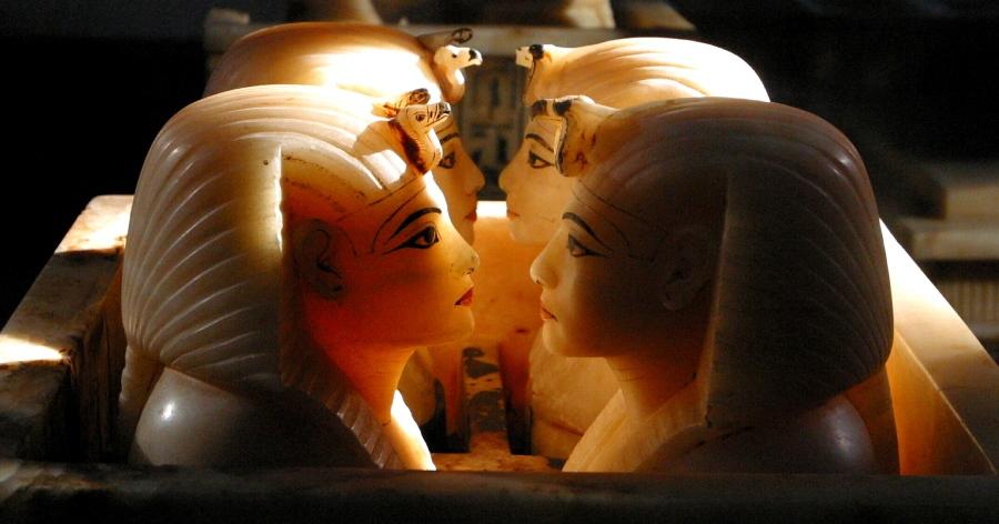 Ägyptisches Museum in Cairo: Kanopengefässe des Tutanchamun