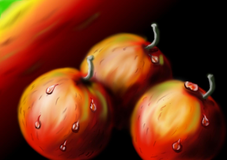 Äpfel, digital gemalt
