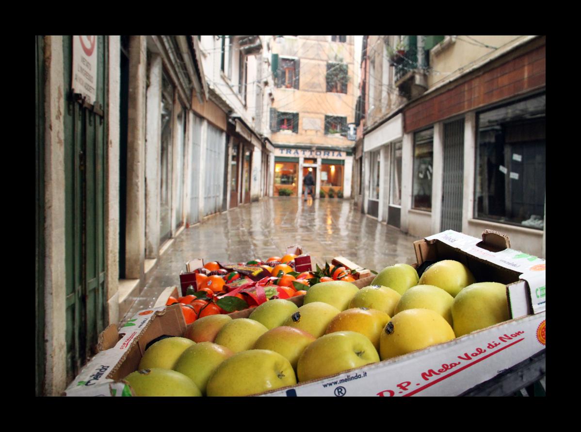 Äpfel in Venedig