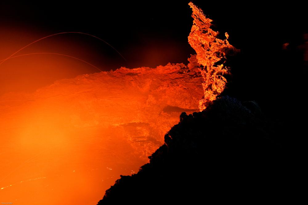 Äthiopien - Feuerschlund am Vulkan Ertale (3)