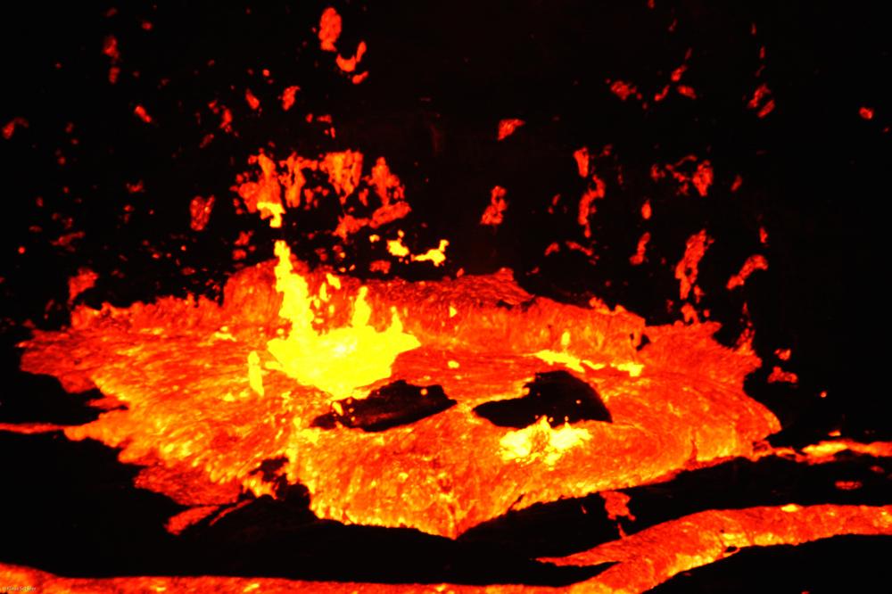 Äthiopien - Feuerschlund am Vulkan Ertale (9)