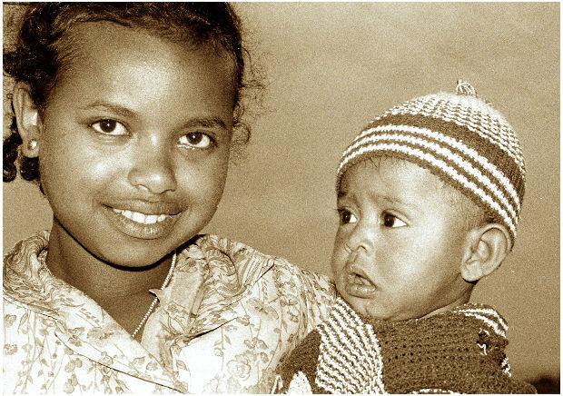 Äthiopische Kinder ...