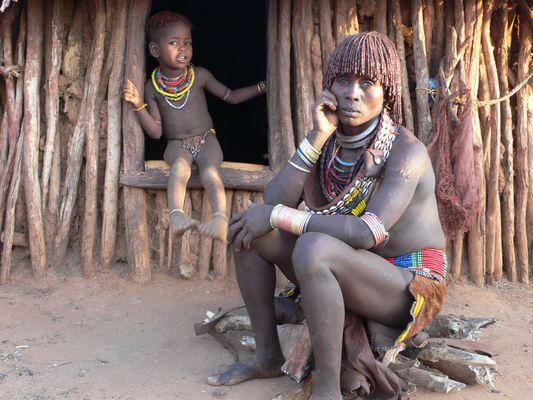 Äthiopische Mutter