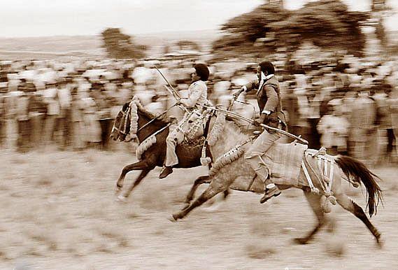 Äthiopische Reiterkämpfe 3