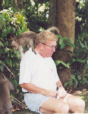 Affe mit Mann