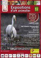 affiche des expositions d'Art Animalier de Namur 2008