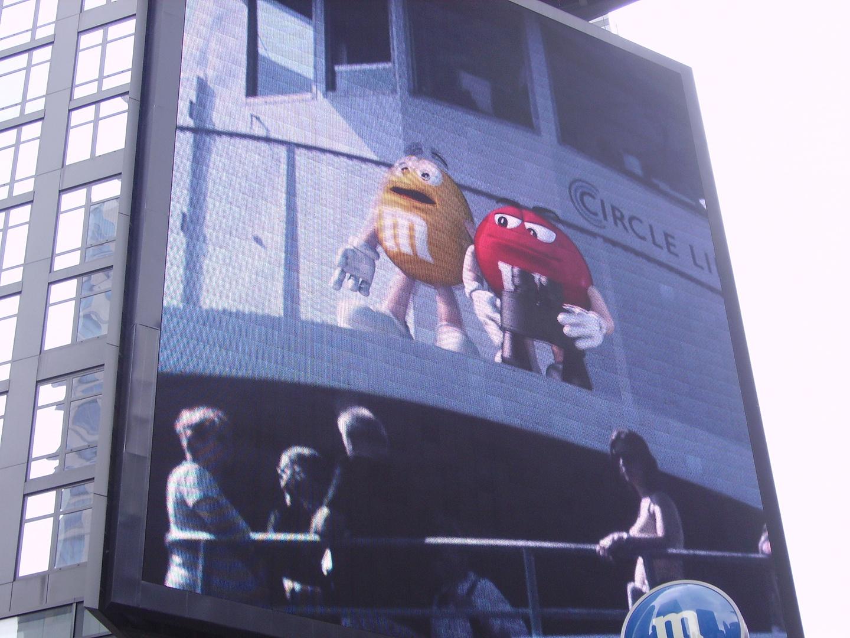 affiche publicitaire à new-york