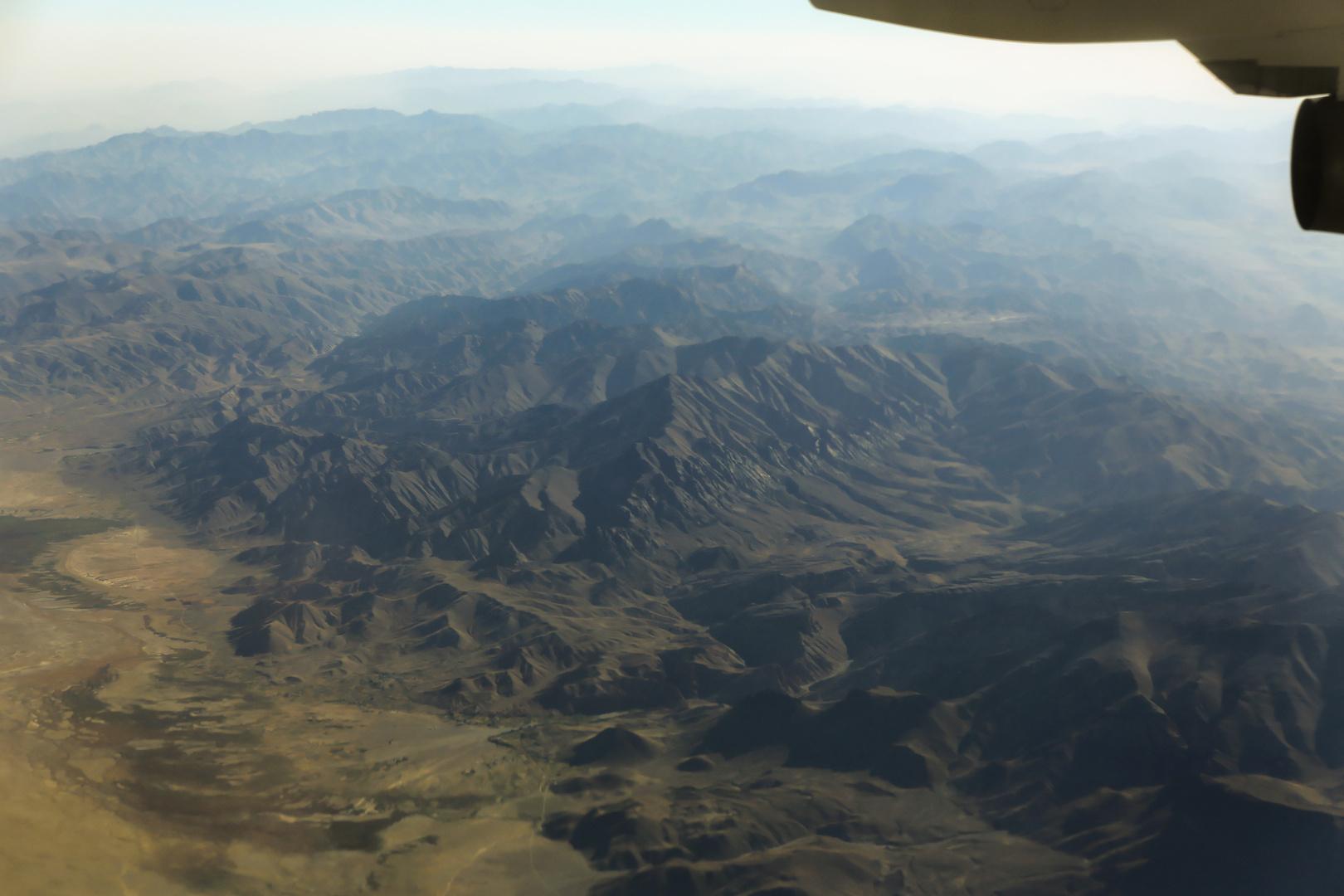 Afganistan aus rund 10 km höhe....