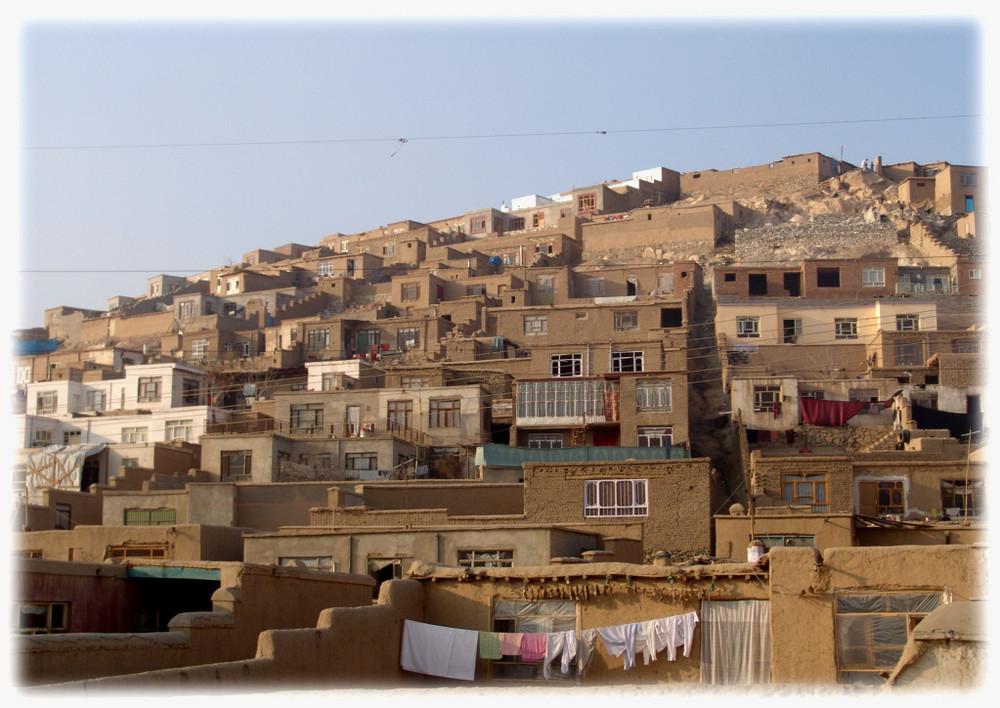 Afghanistan ix wohnen am berg in kabul foto bild asia for Asia wohnen