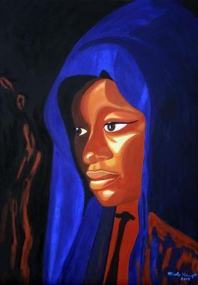 Afrikanerin (nach einem Foto v. Lilo Werner, Bonn)