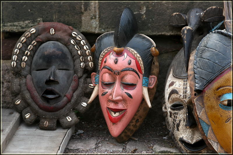 afrikanische masken foto bild kunstfotografie kultur. Black Bedroom Furniture Sets. Home Design Ideas