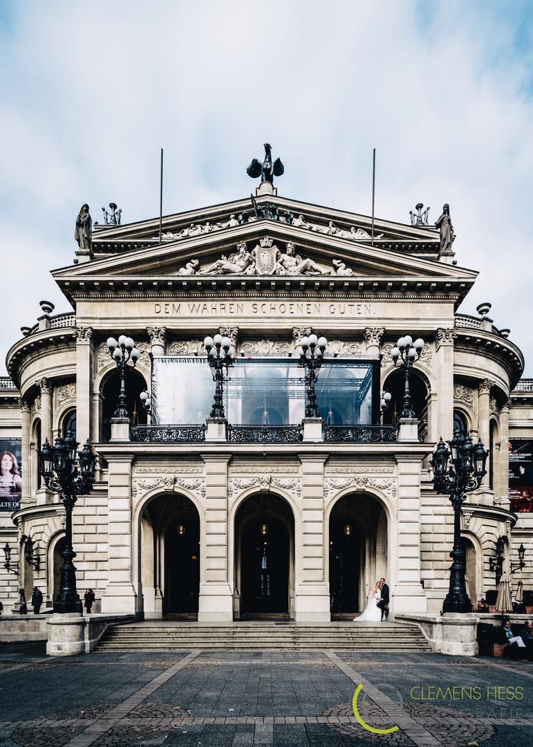 After Wedding Hochzeitsfoto Frankfurt Alte Oper