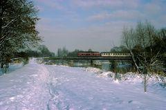 Aggerbrücke im Schnee
