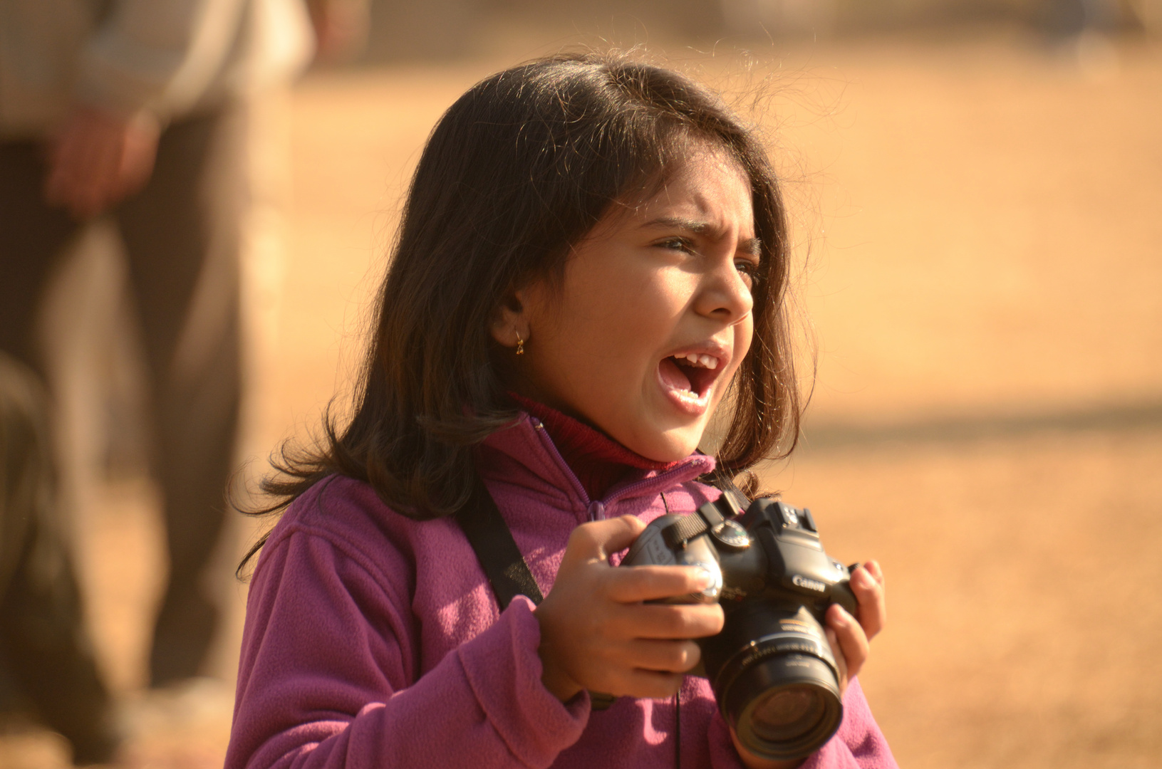 agitated photographer