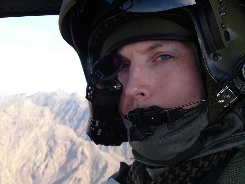 AH-64D Pilot at work in Afghanistan