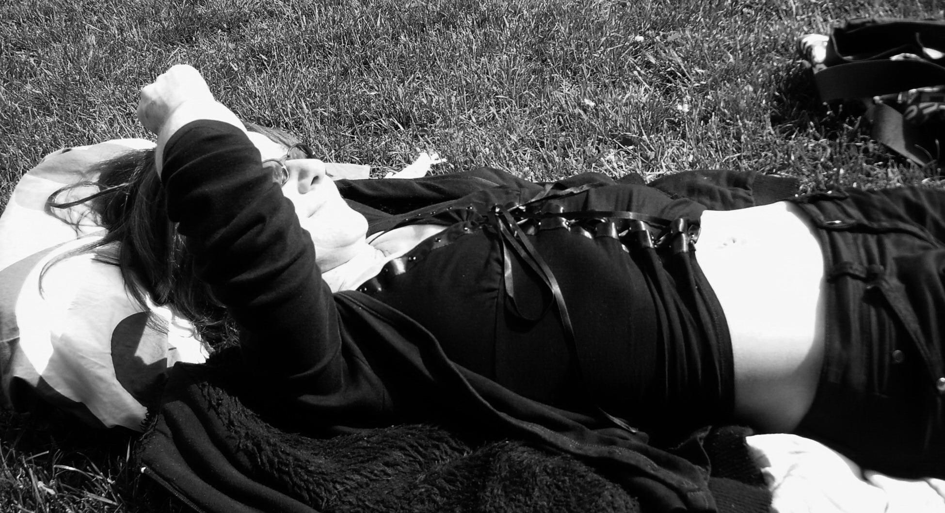 ah une bonne sieste au soleil!!