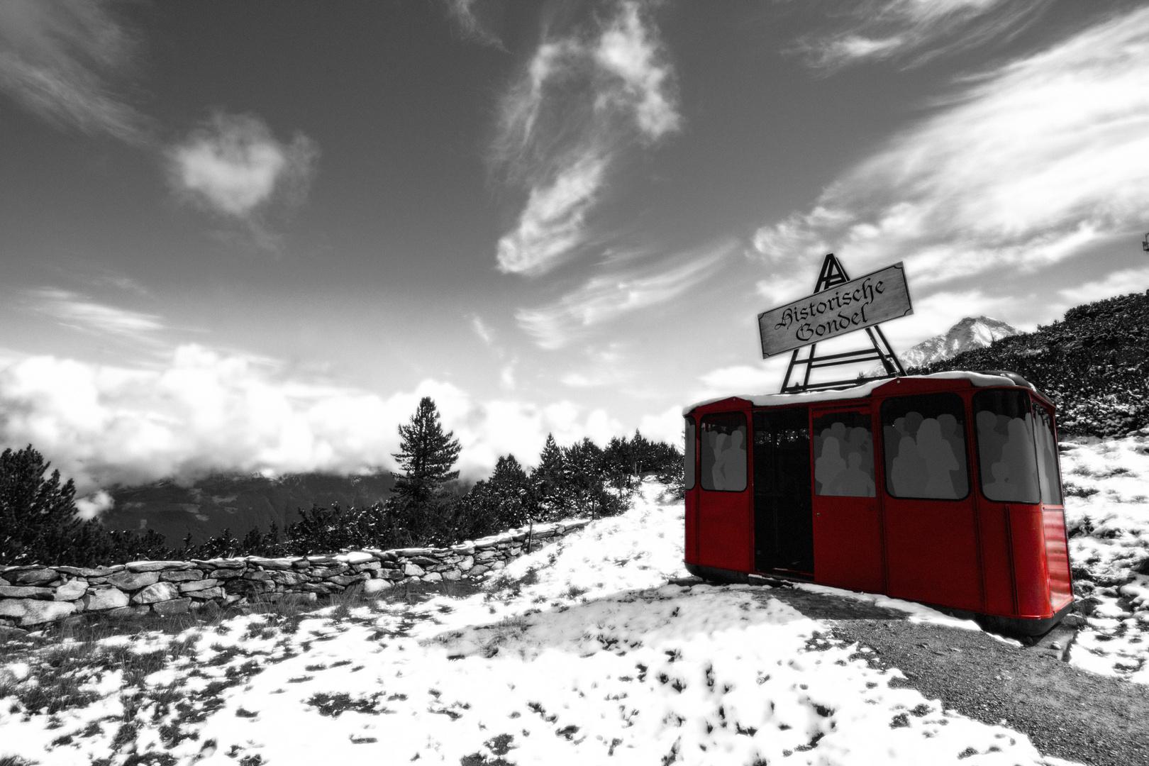 Ahornspitz - Die rote Gondel