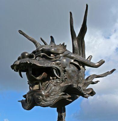"Ai Weiwei: Drache aus dem ""Circle of Animals/Zodiac Heads"" im Belvedere"