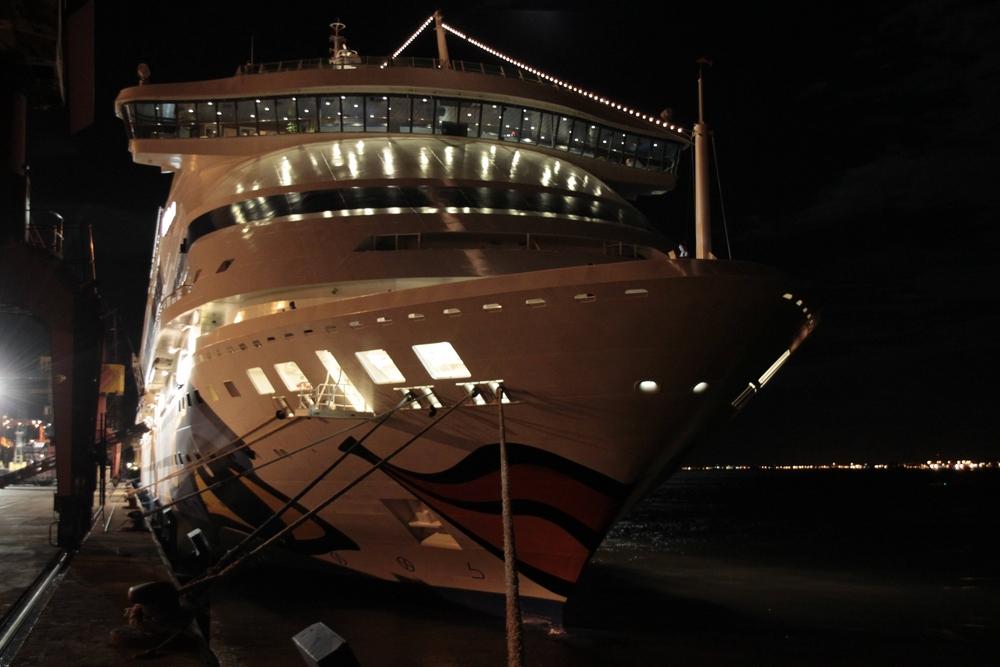 Aida-aura bei Nacht in Lissabon