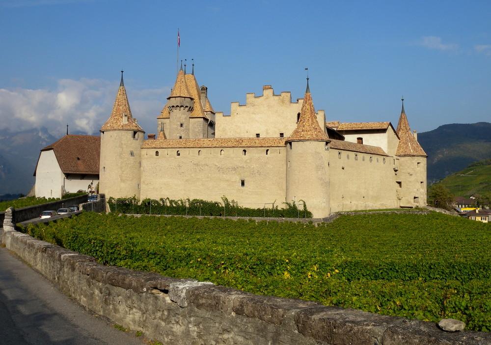 AIGLE: son château et ses vignes / su castillo y su viñedo / seine Burg & sein Weinberg..01