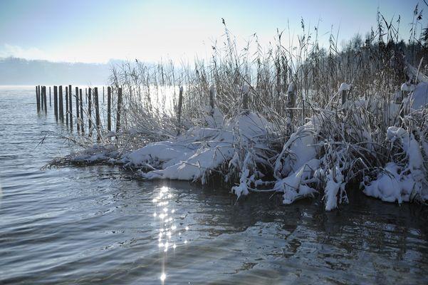 Aiguebelette, l'hiver.
