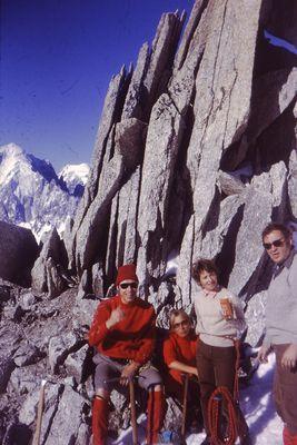 Aiguille du Tour dans le massif du Mont Blanc