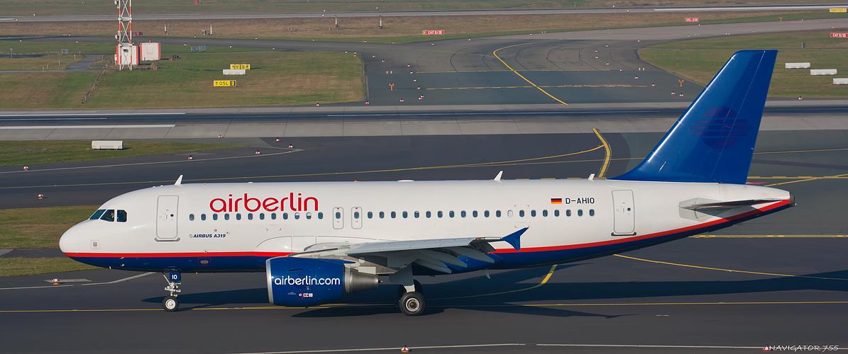 Air Berlin A319 / D-AHIO / ex Hamburg International.