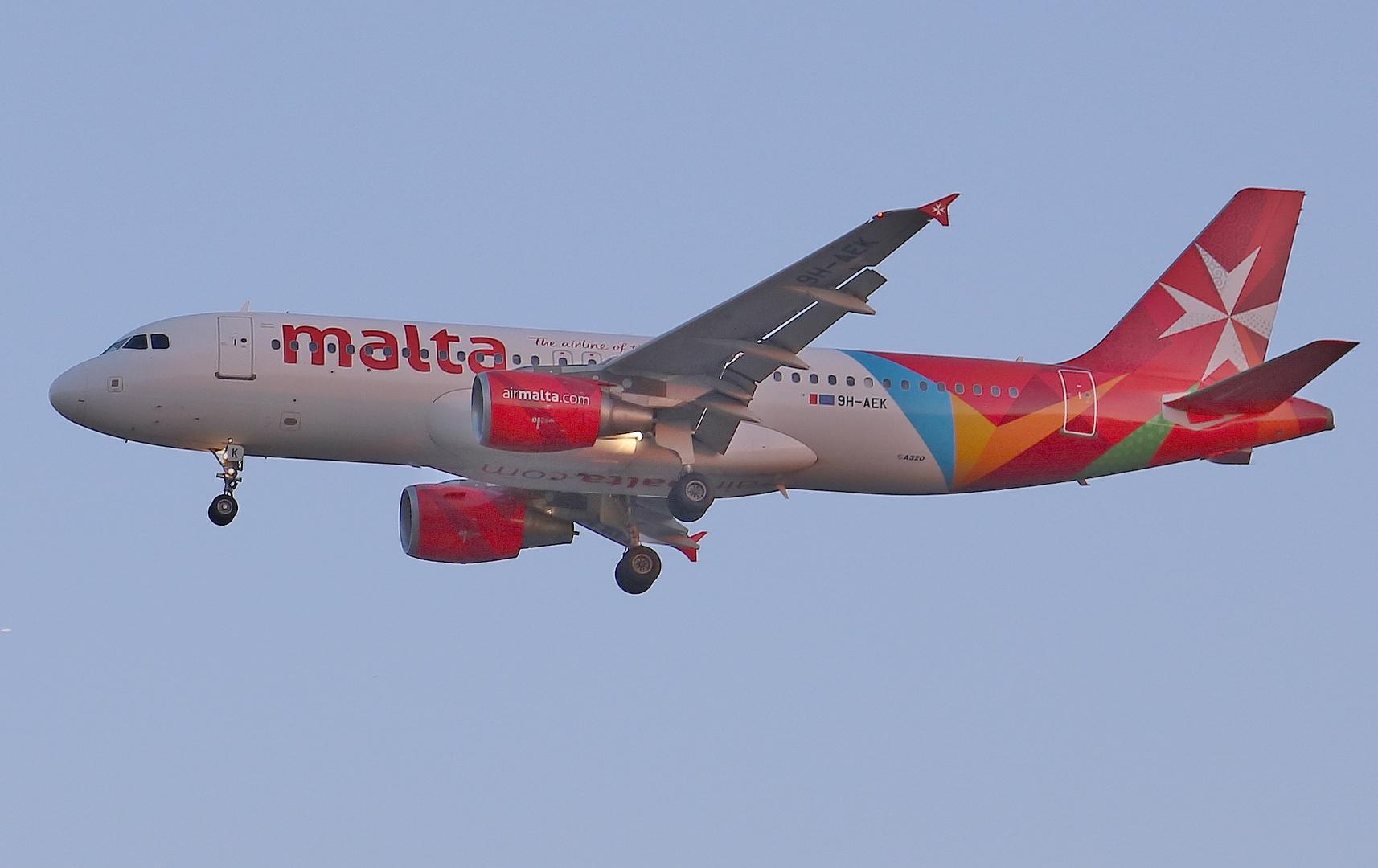 Air Malta im Anflug auf Frankfurt/ Main