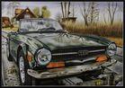 """Airbrush: """"Englische Geschichte"""" Triumph TR6"""