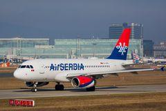 Airbus A319-132 der AirSERBIA