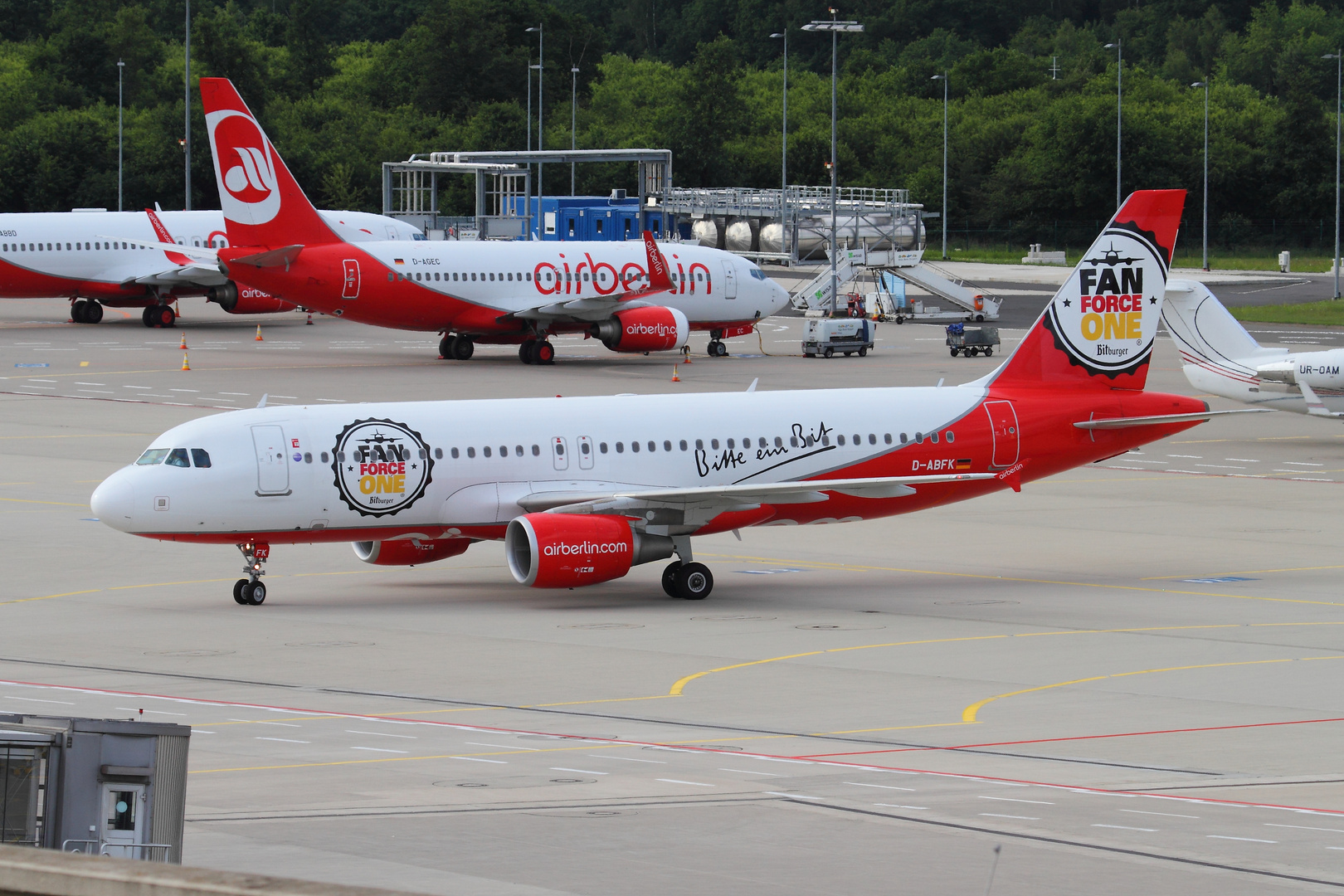 "Airbus A320 Air Berlin ""Fan Force One"""