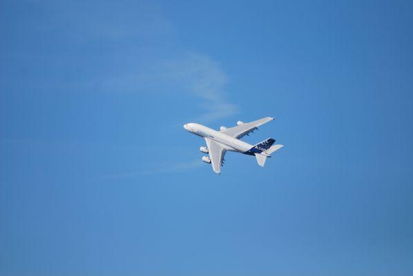 Airbus A380 en plein vol