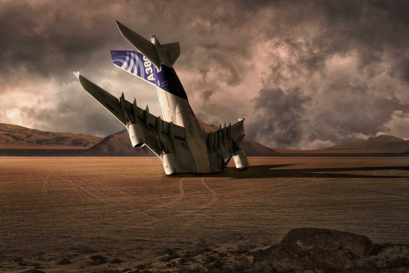 Airbus in Wüste