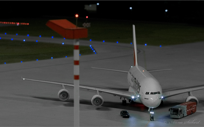 Airport am Abend