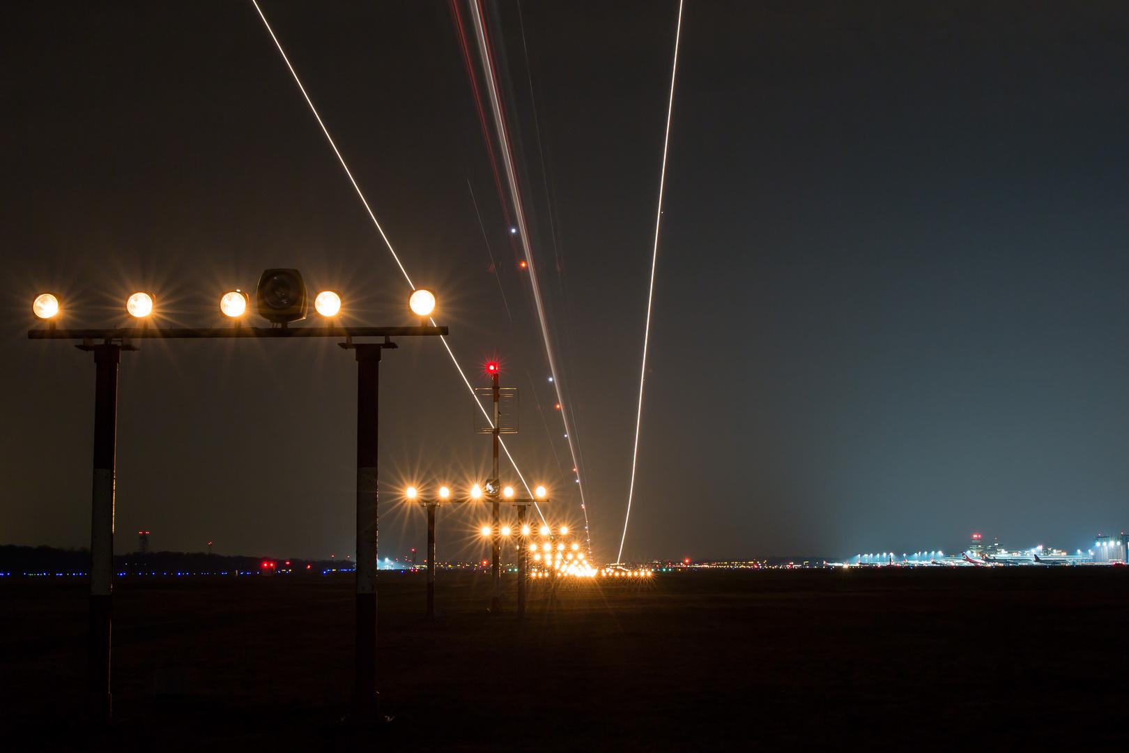 Airport TXL at night